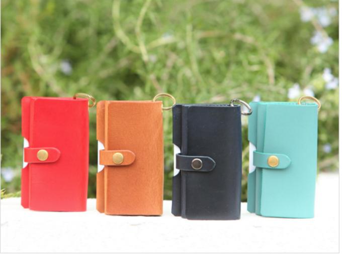 safuji キー付きミニ財布の豊富な色