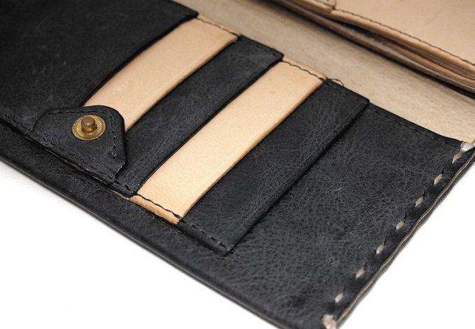 safuji ミニ長財布オリジナルのカード入れ
