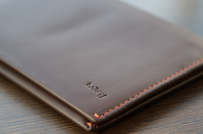 bellroy TRAVEL WALLET ステッチ