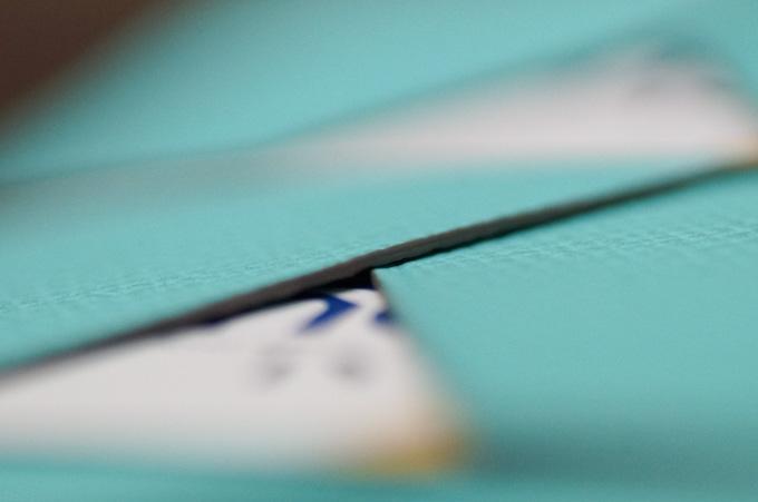 ALBERTE ラウンドファスナー束入れ 表のカードポケットコバ