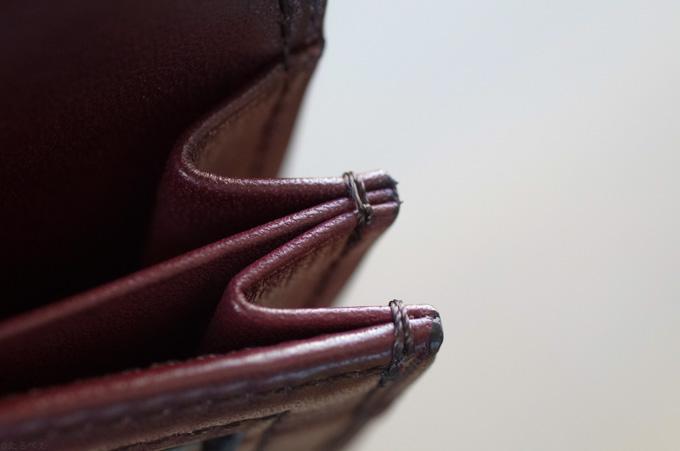 YUHAKU 束入れ お札ポケットの縫製