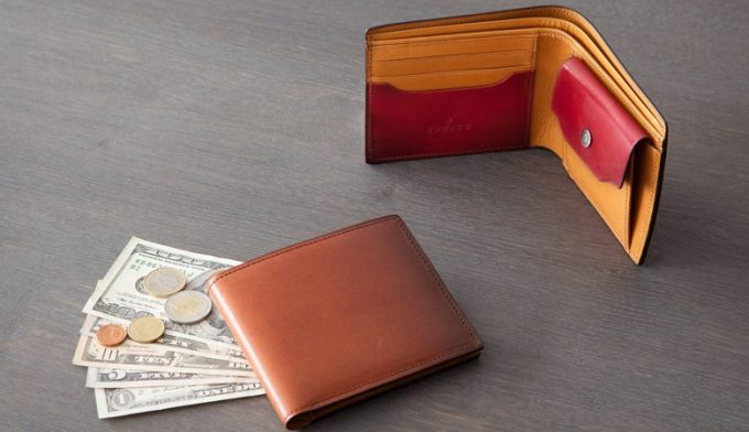 YUHAKU コードバン二つ折り財布