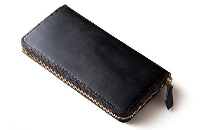 ココマイスター ラウンドファスナー コードバン財布