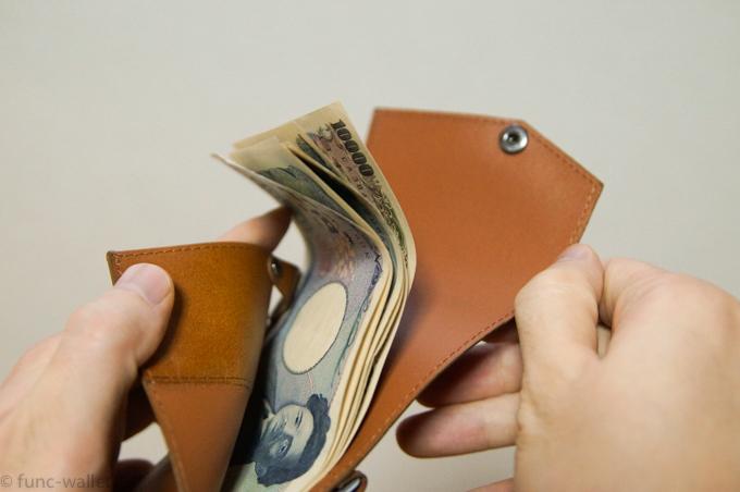 小さい財布abrAsus ガバッと開くお札入れ