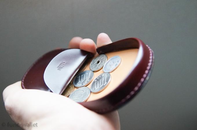 馬蹄形 コインを収納