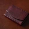 ハンモックウォレットコンパクト クラシコのレビュー。アンティーク調レザーの美しさを楽しめる、小さい財布