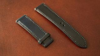ホーウィン社シェルコードバン 腕時計ベルトのレビュー。世界最高峰のコードバンを身に付けるメリット・デメリットを解説する