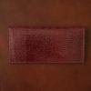 Crevaleathco リザード長財布のレビュー。一枚革のリザードを使ったスリムな純束入れ